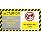 COVID-19 Reflective Safety Sign