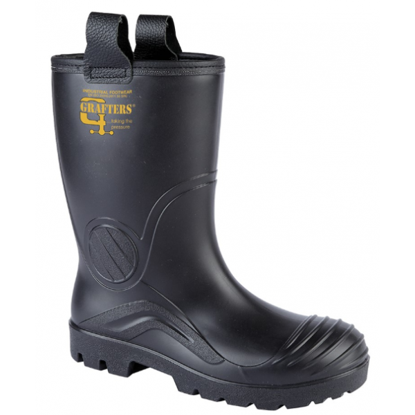 GRAFTERS  Full Safety Waterproof Rigger Boot